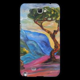 "Чехол для Samsung Galaxy Note 2 ""небеса"" - красота, sky, горы, дерево, color, bright, beautiful, tree, mountains"