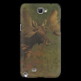 "Чехол для Samsung Galaxy Note 2 ""Лось (Study of a moose)"" - картина, бирштадт"