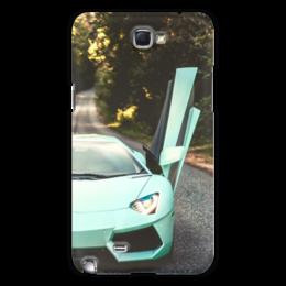 "Чехол для Samsung Galaxy Note 2 ""Lamborghini"" - авто, половинка, фара, престиж"