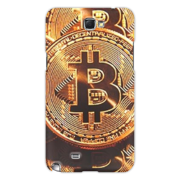 "Чехол для Samsung Galaxy Note 2 ""bitcoin"" - чехол для телефона, чехол samsung, биткоин, купить чехол, фотопринт"