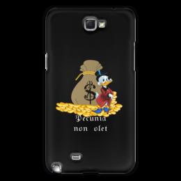 """Чехол для Samsung Galaxy Note 2 """"Деньги не пахнут. Деньги. Скрудж Макдак. """" - цитаты, money, утиные истории, duck tales, скрудж макдак"""
