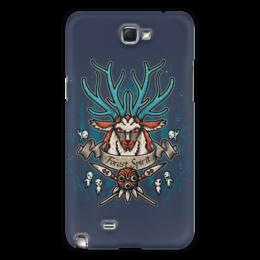 """Чехол для Samsung Galaxy Note 2 """"Forest Spirit. Лесной Дух"""" - рисунок, олень, фэнтэзи, лесной дух"""