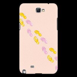 """Чехол для Samsung Galaxy Note 2 """"Сланцы"""" - лето, обувь, отпуск, горох, сланцы"""