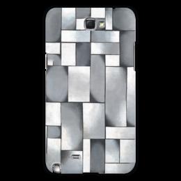 """Чехол для Samsung Galaxy Note 2 """"Композиция в сером"""" - картина, дусбург"""