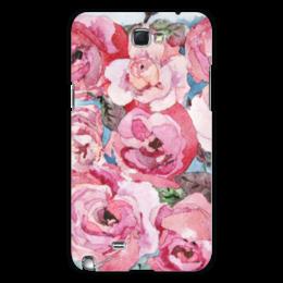 """Чехол для Samsung Galaxy Note 2 """"Розы. Декор"""" - цветок, оригинальный, нежный, акварель, живопись"""
