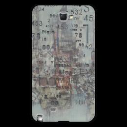 """Чехол для Samsung Galaxy Note 2 """"Цифры"""" - арт, цифры, фактурный"""