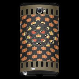 "Чехол для Samsung Galaxy Note 2 ""Хеллоуин"" - хэллоуин, рожица, тыква, тыквы, чудовище"