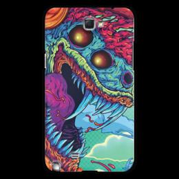 "Чехол для Samsung Galaxy Note 2 ""Hyper Beast"" - монстр, клыки, яд, hyper beast"