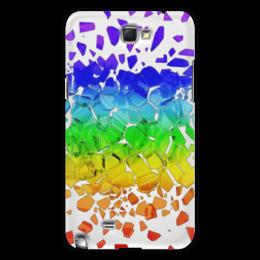 "Чехол для Samsung Galaxy Note 2 ""Broken rainbow"" - радуга, rainbow, broken, сломанная"