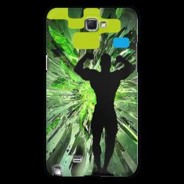 "Чехол для Samsung Galaxy Note 2 ""Кубики пресса"" - стиль, мужчина, бодибилдинг"