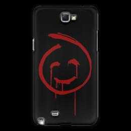 """Чехол для Samsung Galaxy Note 2 """"Смайлик Кровавого Джона (Менталист)"""" - смайлик, red john, красный джон, менталист, кровавый джон"""