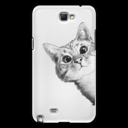 """Чехол для Samsung Galaxy Note 2 """"Любопытный кот"""" - кот, стиль, cat, кошки, swag"""
