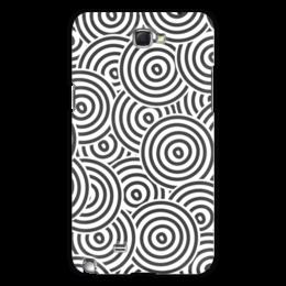 """Чехол для Samsung Galaxy Note 2 """"Радиальная"""" - рисунок, орнамент, стильный, круги, кольца"""
