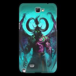 "Чехол для Samsung Galaxy Note 2 ""WarCraft Collection: illidan"" - wow, warcraft, world of warcraft, варкрафт, иллидан"