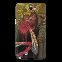 """Чехол для Samsung Galaxy Note 2 """"Смерть"""" - кровь, кости, смерть, клыки"""