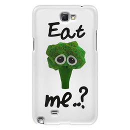 "Чехол для Samsung Galaxy Note 2 ""Eat me..?"" - еда, мимими, брокколи, broccoli"