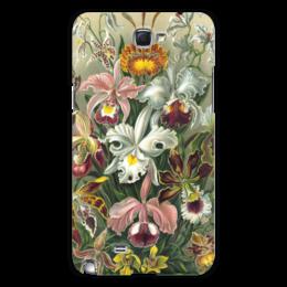 """Чехол для Samsung Galaxy Note 2 """"Орхидеи (Orchideae, Ernst Haeckel)"""" - цветы, картина, орхидея, красота форм в природе, эрнст геккель"""