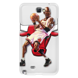 "Чехол для Samsung Galaxy Note 2 ""Michael Jordan Cartooney"" - 23, чикаго, бык, chicago bulls, джордан"