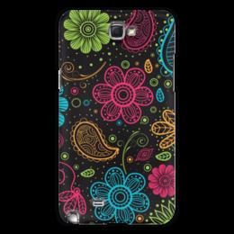 """Чехол для Samsung Galaxy Note 2 """"Цветочный"""" - цветы, узор, орнамент, стиль, рисунок"""