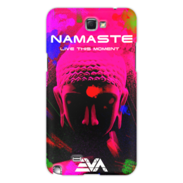 "Чехол для Samsung Galaxy Note 2 ""Арт Будда"" - искусство, buddha, будда, намасте, крыша мира"