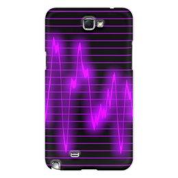 "Чехол для Samsung Galaxy Note 2 ""Мелодия"" - музыка, узор, звук, краски, звуковая волна"