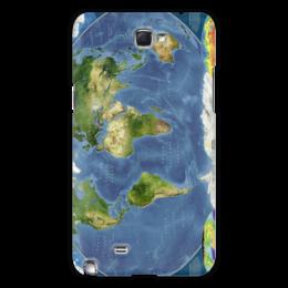"""Чехол для Samsung Galaxy Note 2 """"Карта мира"""" - мир, карта, спутник, география"""