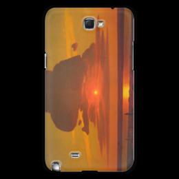 "Чехол для Samsung Galaxy Note 2 ""Красный закат (картина Архипа Куинджи)"" - картина, архип куинджи"