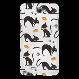 "Чехол для Samsung Galaxy Note 2 ""Чёрные кошки"" - кот, кошка, животные, коты, котёнок"