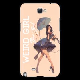 "Чехол для Samsung Galaxy Note 2 ""Blade & Soul Series"" - девушка, girl, рисунок, blade & soul, bakunyuu"