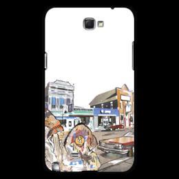 """Чехол для Samsung Galaxy Note 2 """"Индейцы. Путешествие по США"""" - авто, сша, автомобили, путешествия, машины, индейцы"""