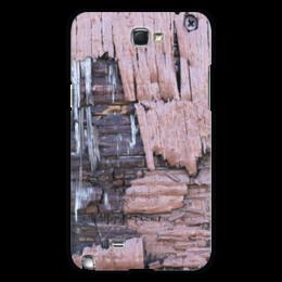 """Чехол для Samsung Galaxy Note 2 """"Деревянный"""" - оригинальный, деревянный, амбарная доска"""