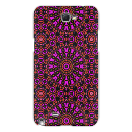 "Чехол для Samsung Galaxy Note 2 ""purple"" - арт, узор, фиолетовый, абстракция, фигуры"