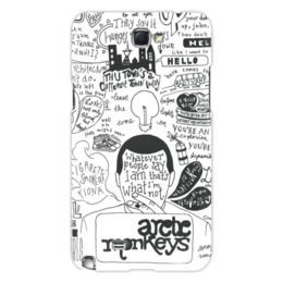 "Чехол для Samsung Galaxy Note 2 ""Arctic Monkeys"" - музыка, рок, группы, инди, arctic monkeys"
