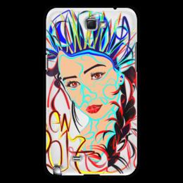 "Чехол для Samsung Galaxy Note 2 ""Снегурочка New 2017"" - снегурочка"