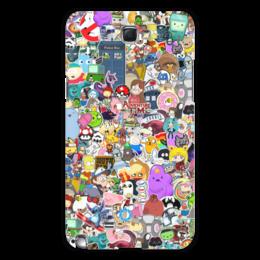 "Чехол для Samsung Galaxy Note 2 ""STICKERS"" - арт, дизайн, аниме, мульт, фэн-арт"