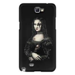 "Чехол для Samsung Galaxy Note 2 ""KISS for iPhone 5"" - арт, kiss, rock n roll, hard rock, mona lisa, глэм-рок"