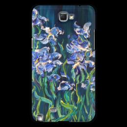 """Чехол для Samsung Galaxy Note 2 """"Ирисы"""" - ночь, красота, ирис, blue, flowers, iris"""
