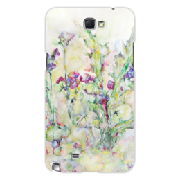 """Чехол для Samsung Galaxy Note 2 """"Незабудки"""" - цветок, оригинальный, нежный, акварель, живопись"""
