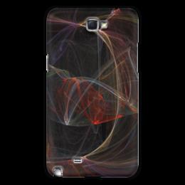 """Чехол для Samsung Galaxy Note 2 """"Абстрактный дизайн"""" - абстракция, линии, фигуры, лучи, фрактал"""