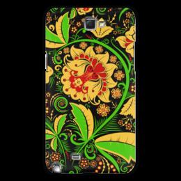 """Чехол для Samsung Galaxy Note 2 """"Хохлома"""" - хохлома, цветы"""