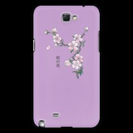 "Чехол для Samsung Galaxy Note 2 ""Японская сакура"" - цветы, рисунок, вишня, сакура"