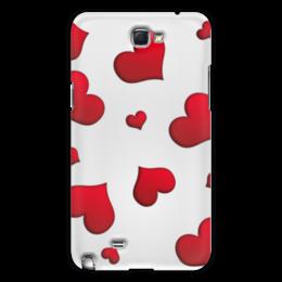 "Чехол для Samsung Galaxy Note 2 ""Сердечки"" - сердце, любовь, сердечки, красное"