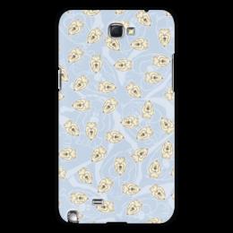 "Чехол для Samsung Galaxy Note 2 ""Собачки"" - dog, голубой, рисунок, собака, собачка"