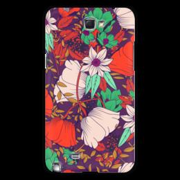 """Чехол для Samsung Galaxy Note 2 """"Цветочный"""" - цветы, узор, рисунок, стиль, арт"""