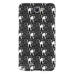 """Чехол для Samsung Galaxy Note 2 """"ЪУЪ ЪУЪ"""" - мемы, черный кот, cursed cat, мем с котом, ъуъ съука"""
