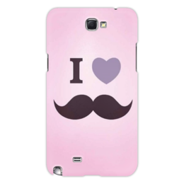 "Чехол для Samsung Galaxy Note 2 ""I love ..."" - усы, сердце, мужик, любовь"