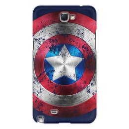 "Чехол для Samsung Galaxy Note 2 ""Captain America "" - comics, комиксы, герой, marvel, мстители, avengers, марвел, hero, капитан америка, captain america"