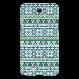 """Чехол для Samsung Galaxy Note 2 """"Лесной царь"""" - green, лес, орнамент, зеленый, forest, этнический, кедр, северный"""
