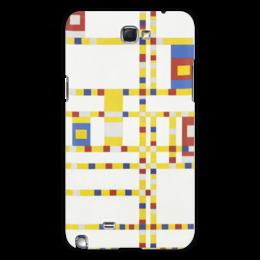 "Чехол для Samsung Galaxy Note 2 ""Бродвей буги-вуги (Питер Мондриан)"" - картина, живопись, мондриан"