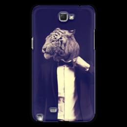 """Чехол для Samsung Galaxy Note 2 """"Tiger Style"""" - стиль, человек, коллаж, тигр"""
